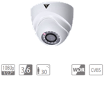 "VDT-TC2623: IR dome camera HDCVI da esterno/interno IP67, sensore progressivo 1/2.7"""" CMOS da 2Mp, risoluzione 1.080p"""