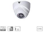 "VDT-TC1623: IR dome camera HDCVI da esterno/interno IP67, sensore progressivo 1/3"""" CMOS da 1.3Mp, risoluzione 720p"""